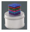 6 χρωματα - μαγνήτες 5mm 216PCS Magnetic Balls DIY Puzzle Toy - Multi-Colored (OEM)