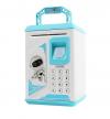 Έξυπνος ηλεκτρονικός κουμπαράς με δαχτυλικό αποτύπωμα και κωδικό Robot bodyguard - Μπλε