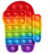 Pop It Παιχνίδι  ΑντιΣτρες - Bubble AMONG US -  Ουρανιο τοξο  (oem)(bulk)