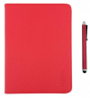 "Element+Pen TAB-90R Foldable Leather Case + Pen for tablet 9 "" Red"
