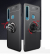 TPU Luxury Magnetic Back Cover Case Finger Ring 360 Rotation  για Samsung A9 2018 (OEM) Μαύρη