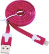 Καλώδιο Flat Φόρτισης και Μεταφοράς Δεδομένων USB σε Lightning - 1m Μοβ
