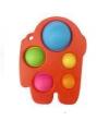Pop It Παιχνίδι  ΑντιΣτρες - Bubble  AMONG US - Κοκκινο  (oem)(bulk)
