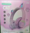 Παιδικά Ακουστικά ασυρματα με FM Ραδιο , Ροζ  χρωμα,  L450 - 7 LEDS ,  δεχεται TF καρτα  (OEM)