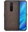 Θήκη Σιλικόνης Ultra-Thin TPu Μαυρη Gel και υφασμα γκρι για OnePlus 7 (oem)
