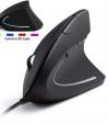 Εργονομικό  Υψηλης Ακρίβειας Οπτικο Ενσυρματο (κάθετο) ποντίκι  DPI 800/1200 / 2000/3600 USB Μαύρο (ΟΕΜ)