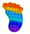Pop It Παιχνίδι  ΑντιΣτρες - Bubble ουρανιο τοξο χρωματισμος Πατουσα (oem)(bulk)