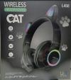 Παιδικά Ακουστικά ασυρματα με FM Ραδιο , Μαυρο χρωμα,  L450 - 7 LEDS ,  δεχεται TF καρτα  (OEM)