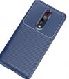 Xiaomi Mi 9T Pro / Mi 9T  Θηκη Σιλικονης  Carbon fiber Shockproof skin Σκουρο Μπλε (oem)