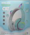 Παιδικά Ακουστικά ασυρματα με FM Ραδιο , Σιελ χρωμα,  L450 - 7 LEDS ,  δεχεται TF καρτα  (OEM)