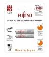 Επαναφορτιζόμενες μπαταρίες Fujitsu AAA 750mAh συσκευασία 2 τεμ