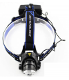 Holyfire F11 3Mode White LED 900lm Zooming Headlight Black/Blue