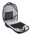 Τσάντα πλάτης B00193-BK, laptop, USB, αδιάβροχη, μαύρη