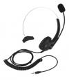 Ενσύρματο Ακουστικο και χειλόφωνο  με  συνδεση  3.5mm jack για Τηλεφωνικές Συσκευές