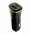 Φορτιστής Αυτοκινήτου Hoco Z31 Universe Dual USB QC3.0 Fast Charging 3.4A 18W Μαύρος με Intelligent Balance