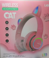 Παιδικά Ακουστικά ασυρματα με FM Ραδιο , Ροδακινι χρωμα,  L450 - 7 LEDS ,  δεχεται TF καρτα  (OEM)