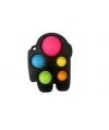 Pop It Παιχνίδι  ΑντιΣτρες - Bubble  AMONG US - Μαύρο  (oem)(bulk)