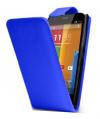 Motorola Moto E Dual SIM XT1022 - Δερμάτινη Θήκη Flip Μπλέ (ΟΕΜ)