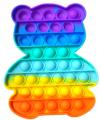Pop It Παιχνίδι  ΑντιΣτρες - Bubble ουρανιο-τοξο  Αρκουδακι (oem)(bulk)