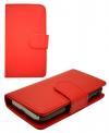 MLS Rock Mini iQ1040 - Δερμάτινη Stand Θήκη Πορτοφόλι κοκκινη (ΟΕΜ)