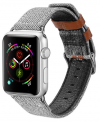 Dux Ducis Canvas Band Λουράκι για Apple Watch 42/44mm (Series 1, 2, 3 & 4) Grey