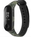 OEM Ανταλλακτικό Λουρί Σιλικόνης για Xiaomi Mi Band 3 / 4 / 5 πρασινο Camouflage