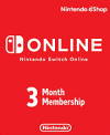 Nintendo Switch Online 3 Month Membership (Serial Only)