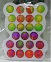 Pop It Παιχνίδι  ΑντιΣτρες - Bubble  Pop It ουρανιο τοξο χρωματισμός  Πλαισιο Αρκουδακι  (oem)(bulk)