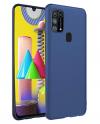 Θήκη ματ tpu σιλικονη μαλακή πίσω κάλυμμα για Samsung Galaxy M31 - μπλε χρωμα  (oem)