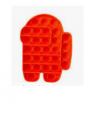 Pop It Παιχνίδι  ΑντιΣτρες - Bubble μονοχρωμο AMONG US - Κοκκινο  (oem)(bulk)