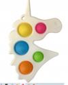 Pop It Παιχνίδι  ΑντιΣτρες - Bubble Μονοκερος Ασπρος (oem)(bulk)