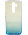 Θήκη TPU σιλικονη μαλακή πίσω κάλυμμα για XIAOMI Note 8 Pro Διαφανες με μπλε κατω μερος χρωμα  (oem)
