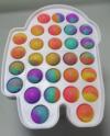 Pop It Παιχνίδι  ΑντιΣτρες - Bubble νερομπογιες χρωματισμος Πλαισιο Among Us (oem)(bulk)