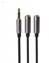 Καλώδιο 3.5mm Jack 1 αρσενικά σε 2 θηλυκα στερεοφωνικα ακουστικα (OEM)