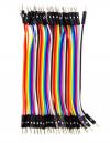 Καλώδιο Dupont wire cable Line 1p-1p pin connector 10cm 2.54mm Αρσενικό σε Αρσενικό