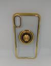 Θήκη ΤΡU με γυροσκόπιο δακτύλου τύπου finger spinner 2 σε 1 και ring για Iphone X - Χρυσό (OEM)