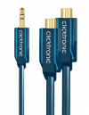 3.5mm AUX Audio Male Jack Plug to70492/0.10m Αντάπτορας ήχου Clicktronic 3.5mm stereo αρσ. - 2 x RCA θηλ. USB 2.0 Female Cable