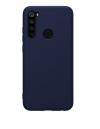 Θήκη ματ tpu σιλικονη μαλακή πίσω κάλυμμα για XIAOMI Note 8 Σκουρο Μπλε (oem)