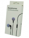 Μαύρα Stereo Earphones and MIC Handsfree τύπου ψείρες με ένταση για iPhone 3GS & 4 / 4S (OEM)