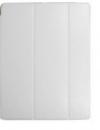 Δερμάτινη Θήκη Tri-fold με πίσω κάλυμμα σιλικόνης / Slim Book Case για το Samsung Galaxy Tab A 10.1 (2016) T580 / T585 ΛΕΥΚΟ (oem)