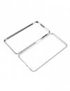 Μεταλλική Μαγνητική Θήκη 360 μοιρών για Samsung Galaxy A70 (Detachable Metal Frame) - Ασημί (OEM)