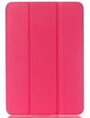 Δερμάτινη Θήκη με πίσω πλάτη σιλικόνης για το Samsung Galaxy Tab Pro 8.4 SM-T320 T325  ΣΚΟΥΡΟ ΡΟΖ (ΟΕΜ)