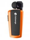 iXchange Stereo Bluetooth Μονό Ακουστικό με Καλώδιο που μαζεύει πορτοκαλι  UA-25XB-N