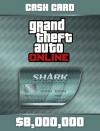 Rockstar Games Megalodon Shark Cash Card 8,000,000 GTA Dollars Xbox One