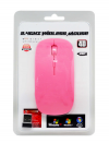 Wireless Optical Usb Mouse Mobilis A100 3 Πλήκτρων Ρόζ