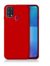 Θήκη ματ tpu σιλικονη μαλακή πίσω κάλυμμα για Samsung Galaxy M31 - κοκκινο χρωμα  (oem)