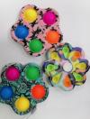 Pop It Παιχνίδι  ΑντιΣτρες - Bubble πολυχρωμο  Spinner μικρή μαργαρίτα (oem)(bulk)
