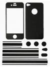 Πλήρες ολόσωμα αυτοκόλλητα για iPhone 4/4s Μαύρο