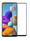 Προστατευτικό οθόνης Tempered Glass 9H-9D για Samsung Galaxy A21S  πλήρους κάλυψης - full glue black (oem)