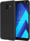 Θήκη Σιλικόνης για Samsung Galaxy A6 Plus (2018) Μαύρη Mατ (OEM)